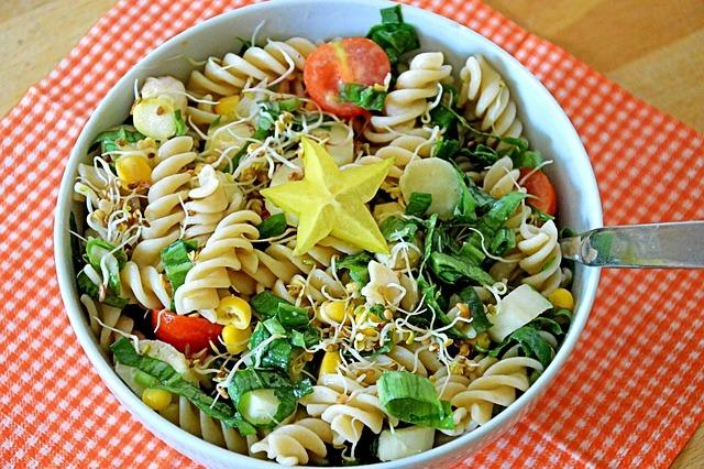 Pasta Salad, Salad, Spring, Bear's Garlic, Asparagus