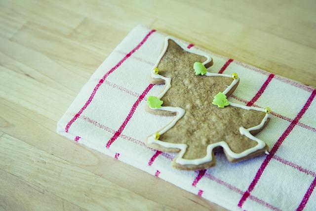Christmas Tree, Cookie, Christmas Baking, Pastries