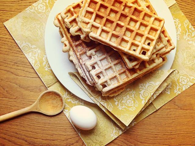 Waffles, Egg Waffles, Pastries, Dessert, Food, Baked
