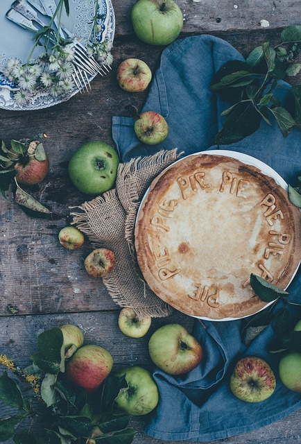 Pie, Tart, Apple, Flat Lay, Food, Bake, Pastry