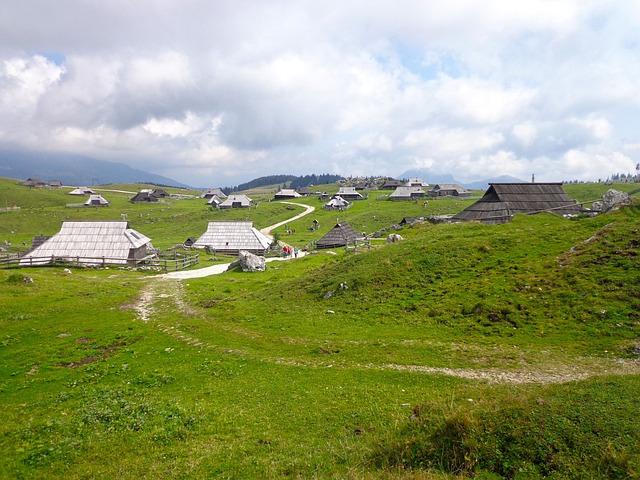 Slovenija, Velika Planina, Nature, Pastures, Mountain