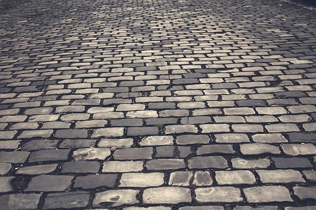 Cobblestones, Road, Paving Stones, Pattern, Away, Patch