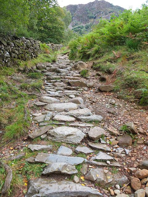 Rugged, Pathway, Lakedistrict, Uk, England