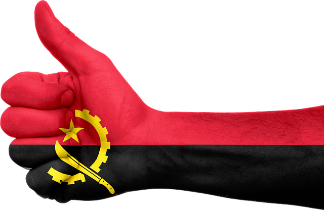 Angola, Flag, Hand, National, Fingers, Patriotic