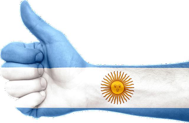 Argentina, Flag, Hand, Thumbs Up, Patriotic, Patriotism