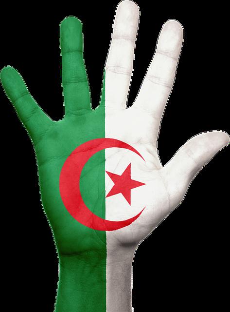 Algeria, Hand, Flag, Patriotic, Patriotism, Africa