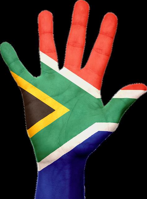 South Africa, Flag, Hand, Pride, Patriotic, Patriotism