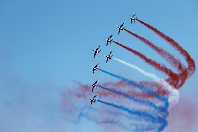 Sky, Flight, Accuracy, Fly, Aircraft, Patrol Of France