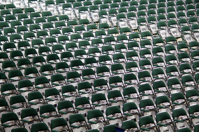 Auditorium, Chairs, Colour, Empty, Grandstand, Pattern