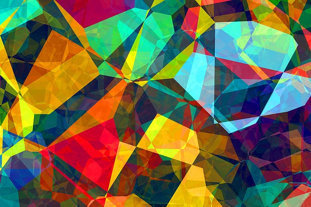 Free photo Pattern Background Abstract Polygon Color