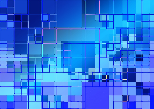Pattern, Structure, Tile, Network, Abstract, Blue