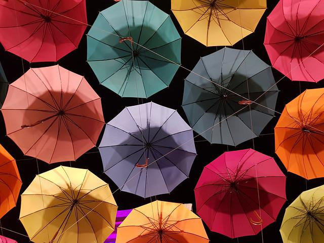 Umbrella, Pattern, Non, Cloud, Cloudy Weather