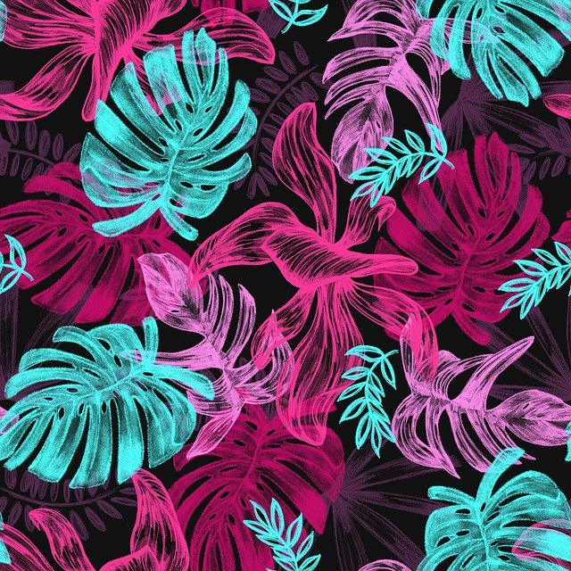 Leaves, Drawing, Reason, Pattern, Colors, Jungle
