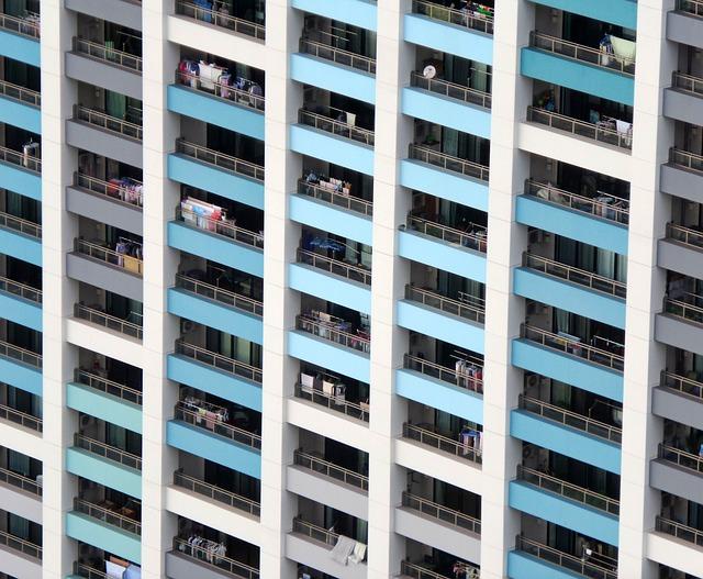 Architecture, Flats, Pattern, Balconies