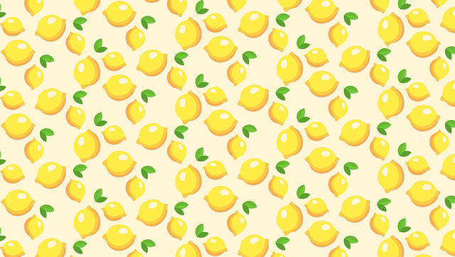 Fruits, Template, Lemons, Yellow, Pattern