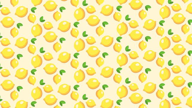 Fruits, Template, Lemons, Yellow, Pattern