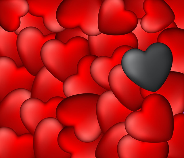 Form, Love, Pattern, Background, Hearts, Red Heart