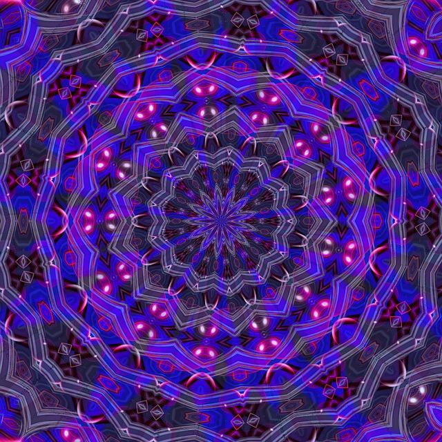 Purple, Kaleidoscope, Mandala, Pattern, Kaleidoscopic