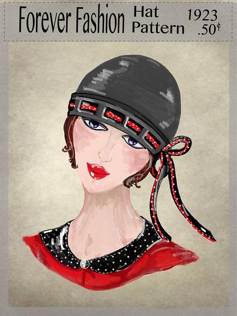 Hat, Motoring, Vintage, Pattern, Face, Women