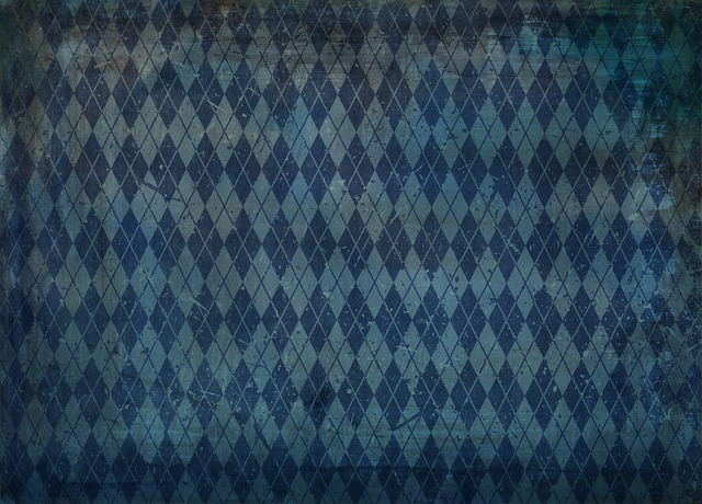 Background, Pattern, Diamond, Blue, Old, Old Fashioned