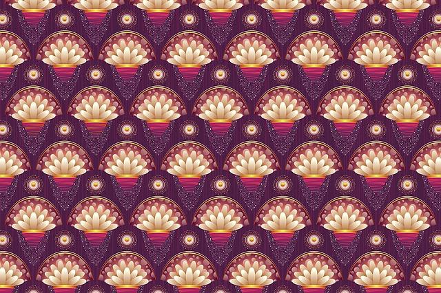 Background, Floral, Pattern, Purple, Petal