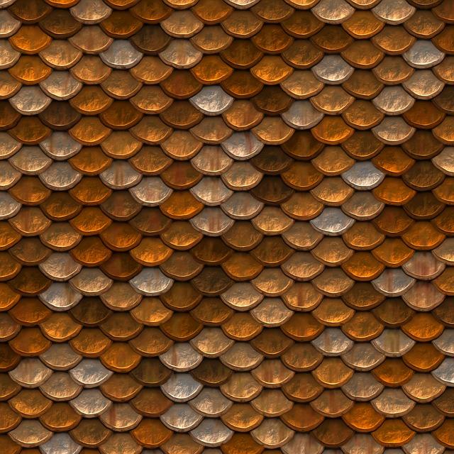 Scale, Metallic, Golden, Metal, Pattern, Symmetrical