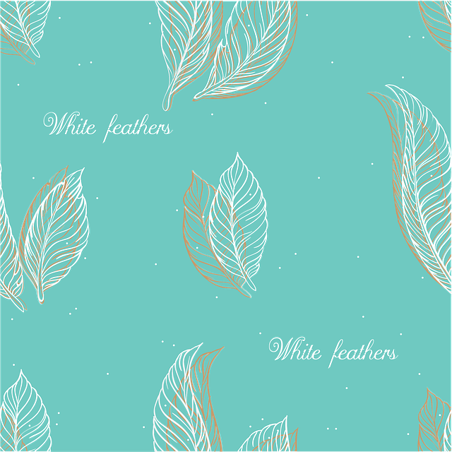 Pen, Pattern, Girlish, Pattern With Feathers