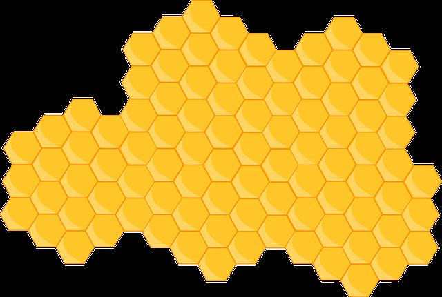 Hexagons, Yellow, Honeycomb, Hive, Bee Hive, Pattern