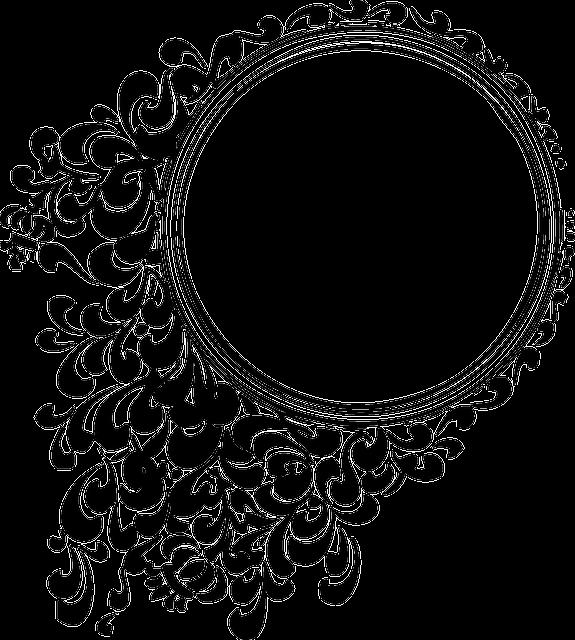 Decorative, Mirror, Round, Circle, Patterns