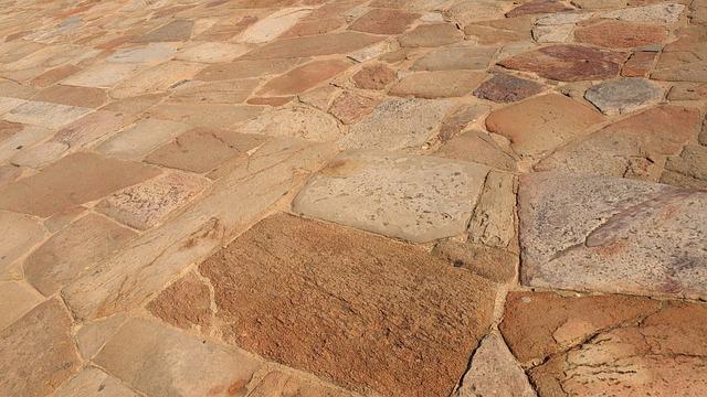 Brown, Landscape, Orange, Path, Pavement, Rocky, Tiled
