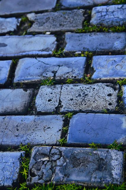 Street, Bricks, Design, Pavement, Color, Minimalism