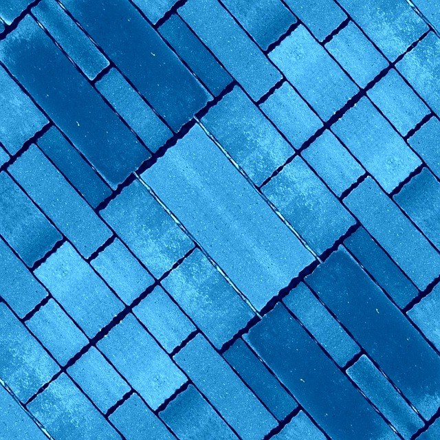 Blue, Stone, Pavers, Blocks, Brick, Diagonal, Shapes