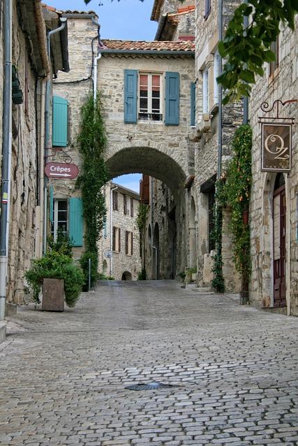 Vézénobre, Gard, Medieval Village, Pavers, Provence