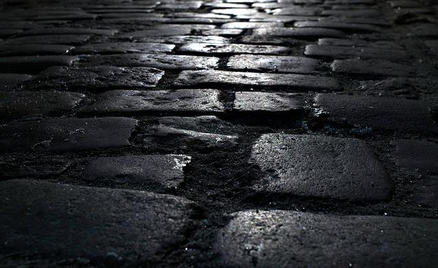 Pavement, Street, Pavers, Walkway, Dark, Glow, Light