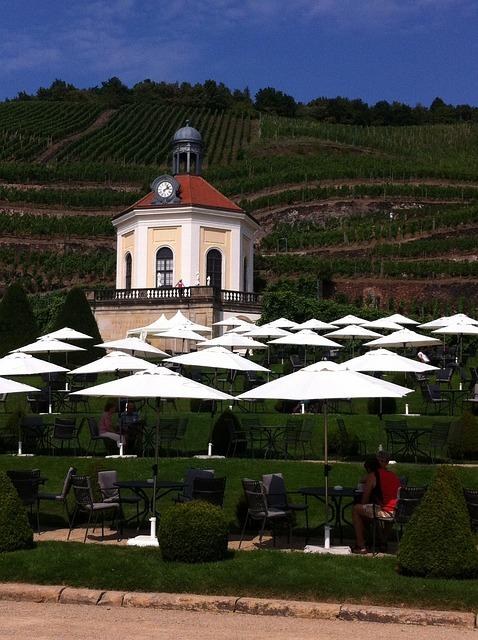 Pavilion, Vineyard, Schloss Wackerbarth, Radebeul