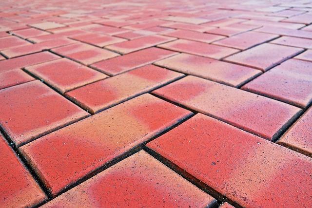 Paving, Brick Paving, Brick Surface, Red Brick
