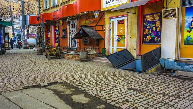 Odessa, Street, Paving Stone, Advertising