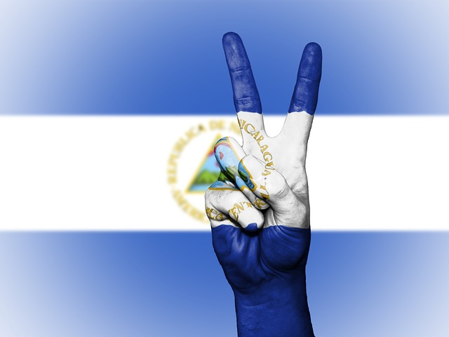 Nicaragua, Peace, Hand, Nation, Background, Banner