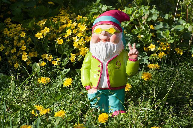 Dwarf, Peace, Spring, Garden, Mood, Colorful, Summer