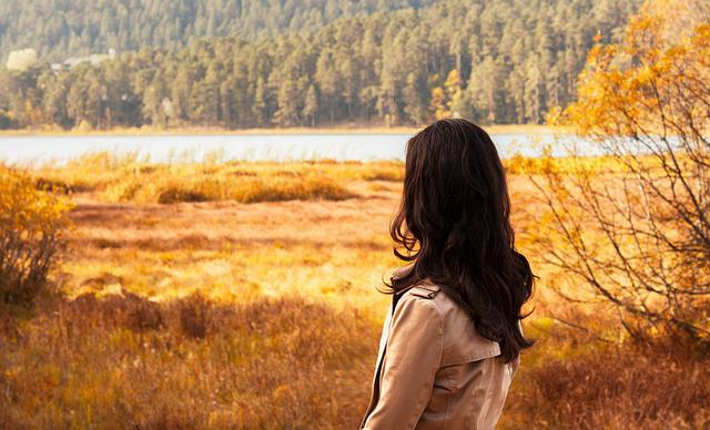 Woman, Nature, Landscape, Autumn, Peace, Only, Turkey