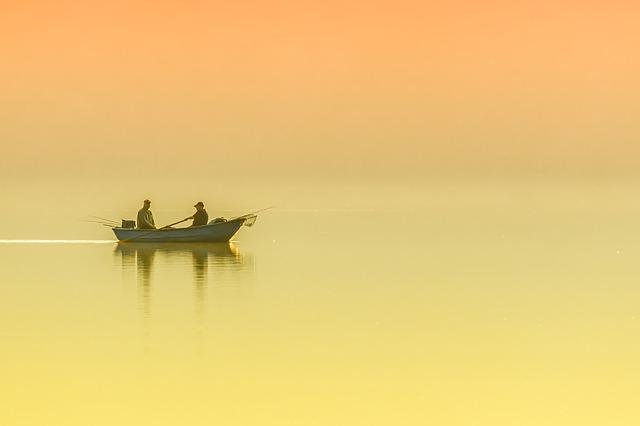 Lake, Boat, Morning, Peaceful, Nature, Water