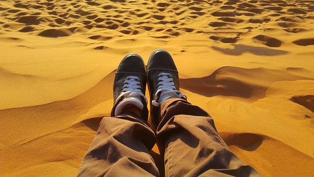Relax, Peaceful, Golden Sands, Sahara, Tired, Sunset