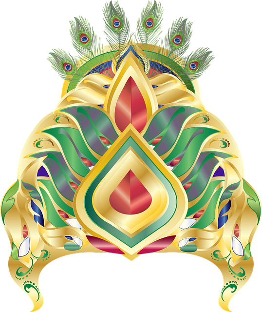 Graphic, Mukut, Crown, Peacock, Peacock Feathers