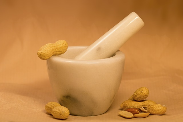Peanuts, Pestle, Peanut Butter, Dried Fruit, Food