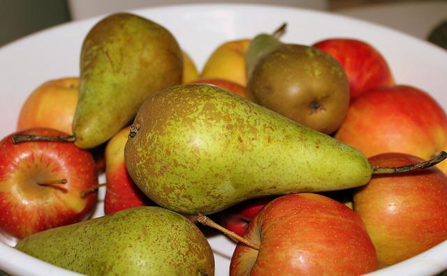 Fruit, Eating, Apple, Pear, Healthy Food, The Freshness