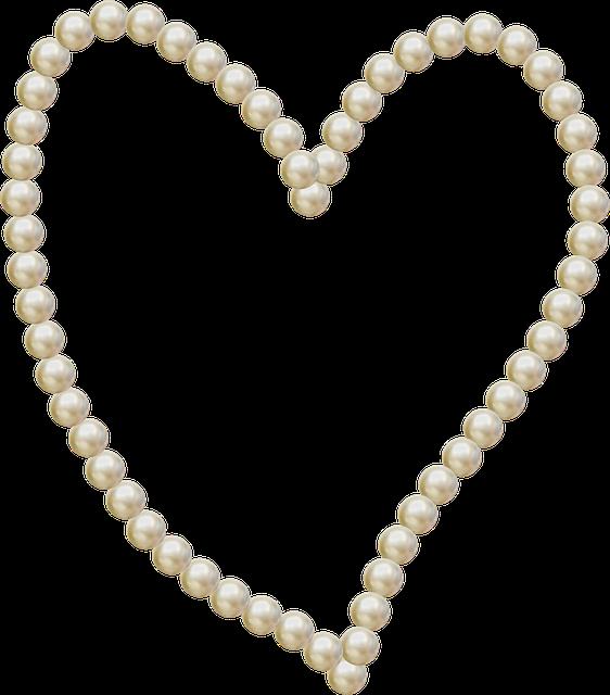 Heart, Pearls, Frame, Love, Decoration, Romantic, White