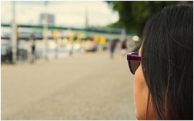 Summer, View, Sunglasses, Asia, Black Hair, Pedestrian