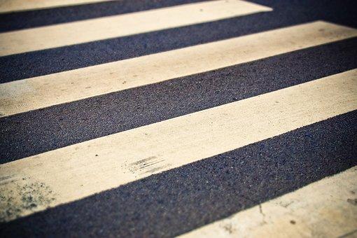 Road, Zebra Crossing, Pedestrian Crossing, Road Sign