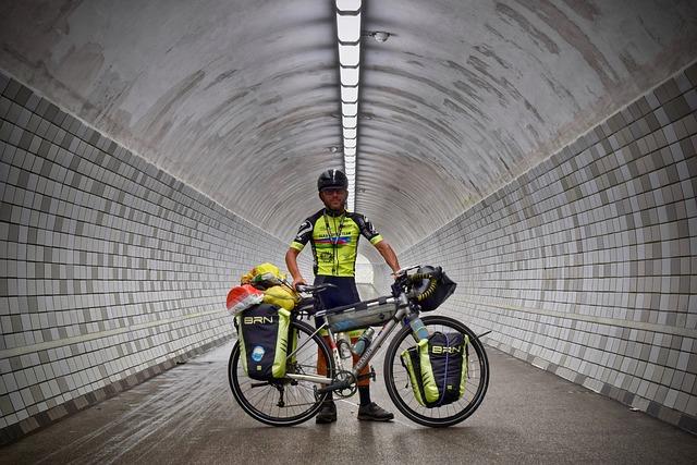 Pedestrian Tunnel, Cyclists, Bike, Cycling, Human