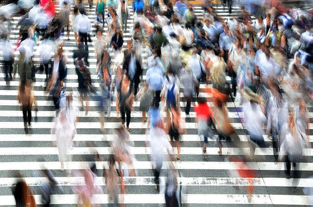 Pedestrians, People, Busy, Movement, Hectic, Osaka